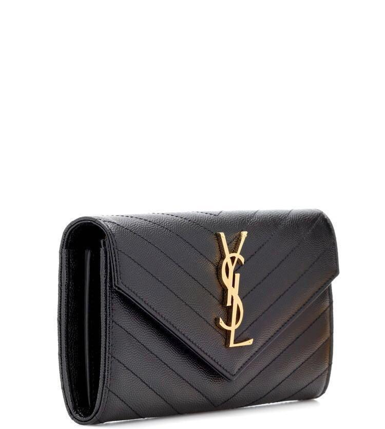 Saint Laurent Black Monogram Large Flap Wallet
