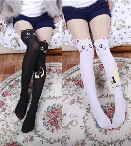 147a4fe9e94 🔥Sales!Instock Sailor moon cat Luna socks