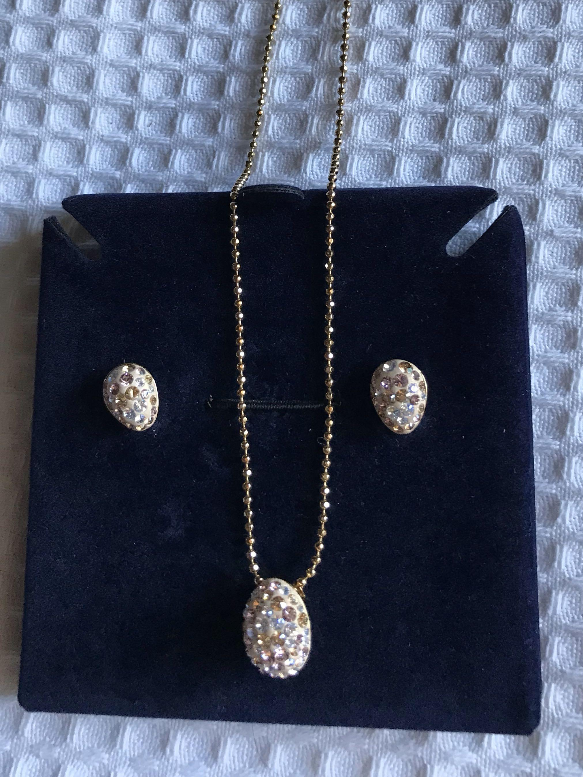 Swarovski necklace and earring set