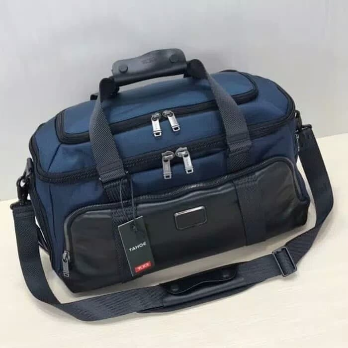Tas Tumi Alpha Bravo Mccoy Gym Bag Blue