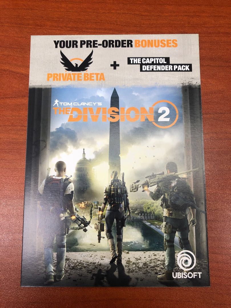 the division 2 code beta