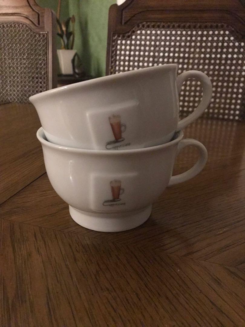 Two cappuccino mugs
