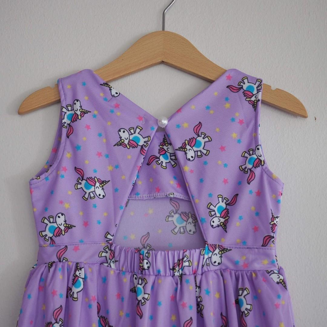 Unicorn dress purple
