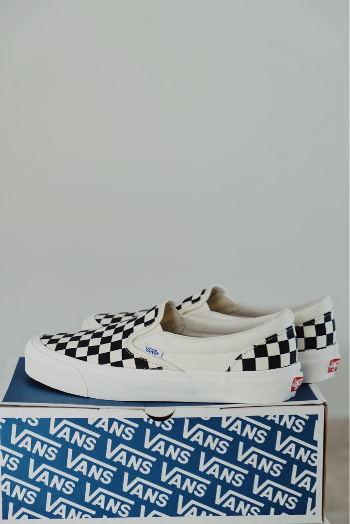 94bb06aef7 Vans Vault Classic Slip On Checkerboard OG