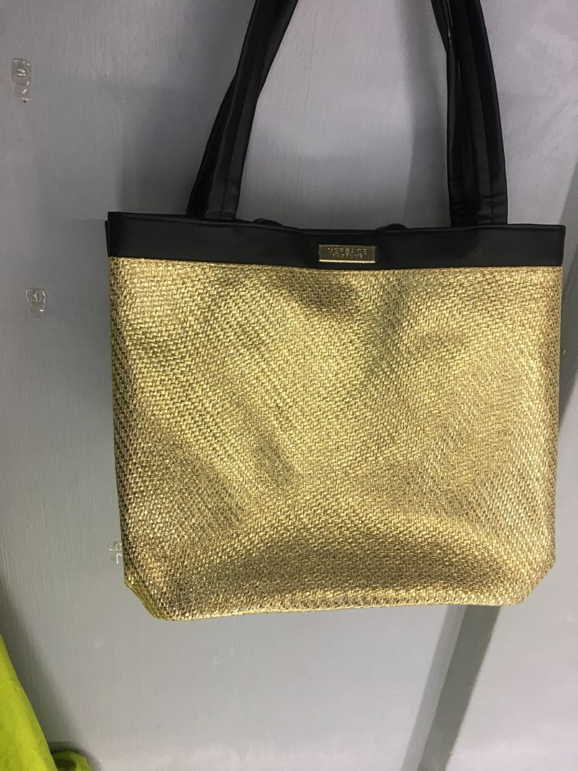 177312765689 Versace gold tote bag - brand new