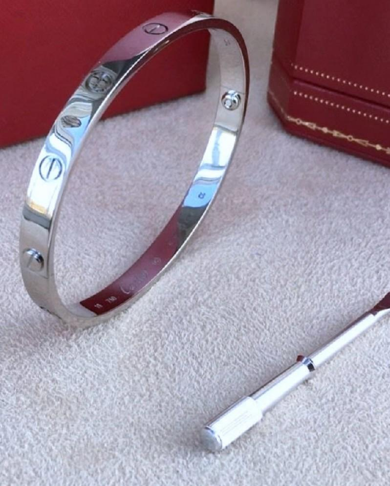 WHITE GOLD CARTIER LOVE SCREW BRACELET