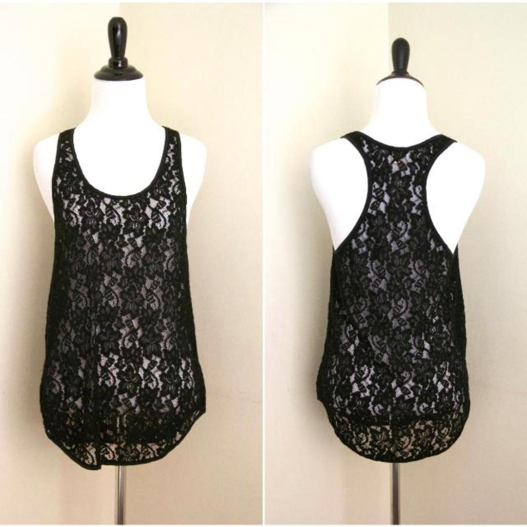 Wilfred Aritzia Lace Women's Tank Top Racerback Sleeveless