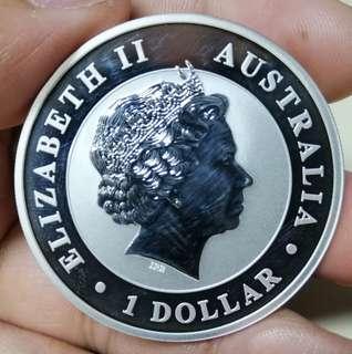 Silver 999 coin kookaburra