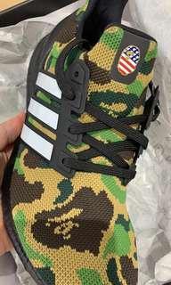 🚚 8.5US Adidas Ultraboost X Bape Camo Green
