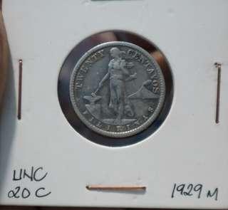 1929 20c uspi old coin