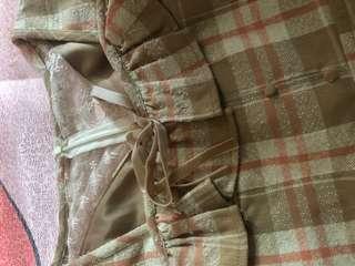 針織拼布連身裙