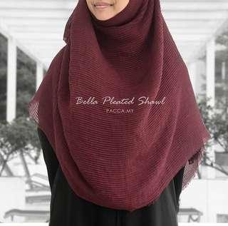 Pacca.my Bella Pleated Shawl - Plum #jan50