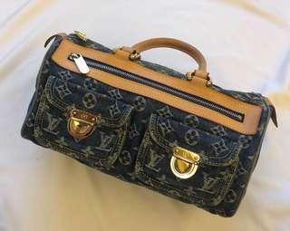 LV單寧牛仔手提包-保證真品