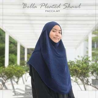 pacca.my Bella Pleated Shawl - Midnight Bidang 60 #jan50