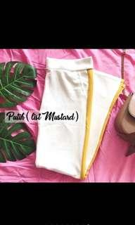 White and Yellow list pants