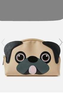 🚚 Bn Super cute typo pug roomy make up pouch or bag
