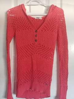 Women's hooded sheer sweatshirt (s)