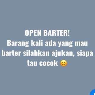 Open barter!