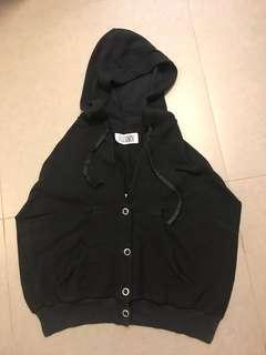 MM6 black vest with hat & scarf (3ways) Martin Margiela