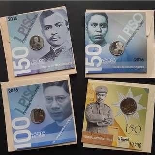 Set of 4 blister pack coins