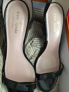 Kate Spade ♠️ Black Ronia Stiletto Wedge Size 8 (Women)