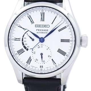 🚚 Seiko SPB045J1 Presage Unlimited Enamel Leather Strap Men's Watch