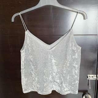 H&M silver velvet