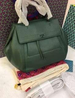 fc24bb52ae26 Authentic Tory Burch Green Half Moon