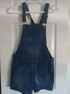 Women's demin overalls (xs)