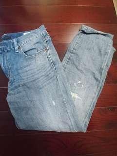 Women's boyfriend fit ankle length jeans (23inch)