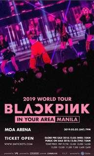 LF: Any seated BlackPink concert ticket