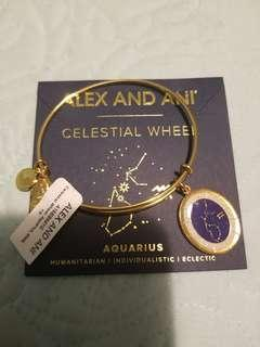 Alex and Ani Aquarius gold celestial wheel bangle