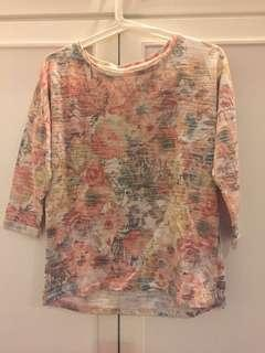 Pull & Bear Floral Sweater