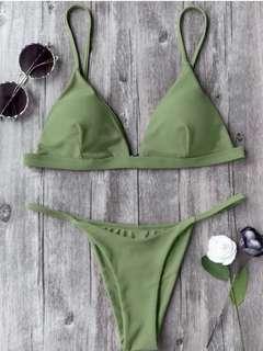 Zaful Olive Bikini