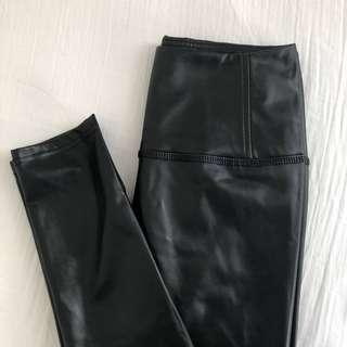 Vegan Leather Leggings - M Boutique