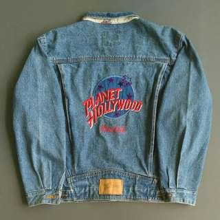 Jaket jeans denim planet hollywood trucker