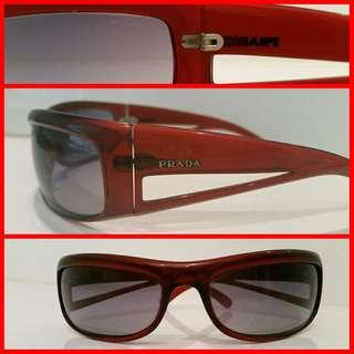 Men's women's AUTHENTIC PRADA sunnies RED MAROON sunglasses