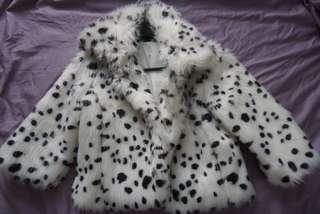 Japan fake fur spot dalmation coat AU 6