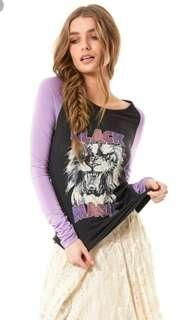 Spell and the Gypsy Black Magic raglan top S