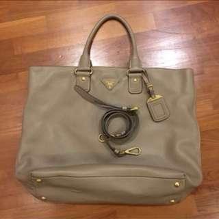 Authentic Prada Vitello Daino Shopping Bag