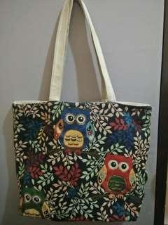 Free shipping: Owl Tote Canvass Bag