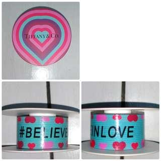 Tiffany&Co 紙膠帶(Believe In Love)一入