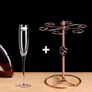 🚚 Champagne Glass set with Stand