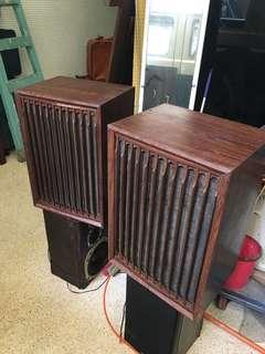 早期木製 古董喇叭一對