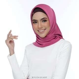 🚚 Musalmah Square Shawl by Nyleascarf - Magenta