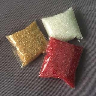 Glass Cut Sugar Beads