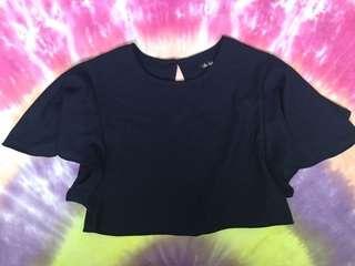 SIZE 8 - Small - Flowy Crop Shirt