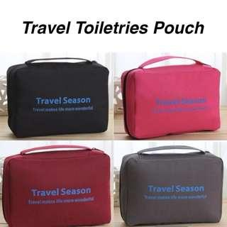 Hanging Toiletries Pouch- Overseas/ Family/ Travel Season