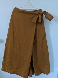 Uniqlo Japanese Style Wide Leg Pants Mustard - XS