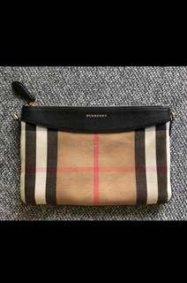 Burberry - Peyton House Check Crossbody Bag in Black